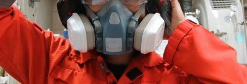 Uso di dispositivi di protezione delle vie respiratorie